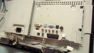 naprawa monitorów kraków - obudowa zasilacza oraz płyty głównej monitora samsung