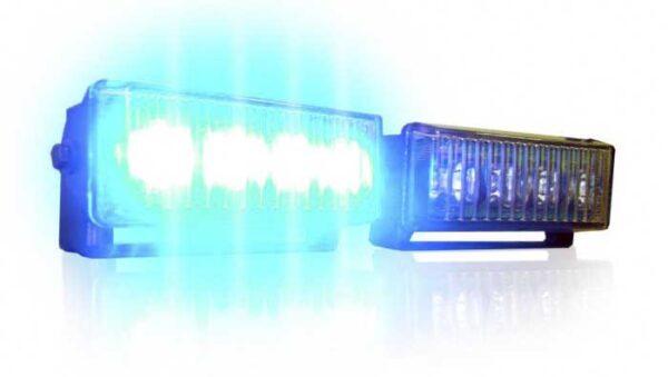 lampa kierunkowa z uchwytem niebieska