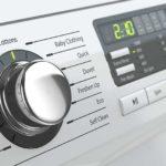 pokrętło wybierania programu prania w pralce
